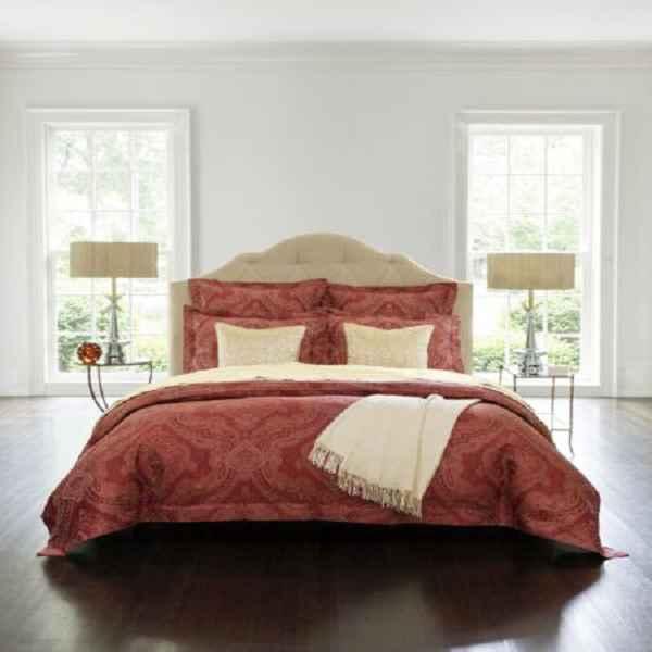 Sferra Miretta Standard Pillow Sham Parchment Cotton Sateen Jacquard New